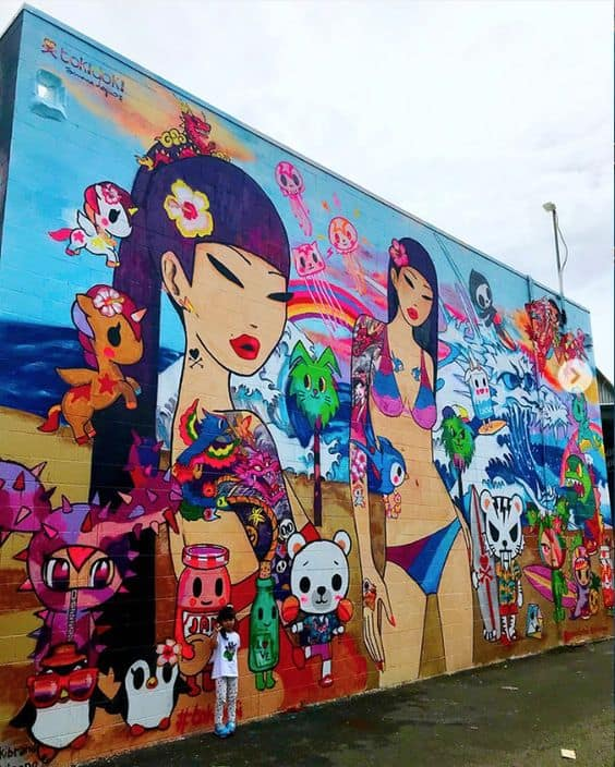 A mural from POW! WOW! Hawaii.