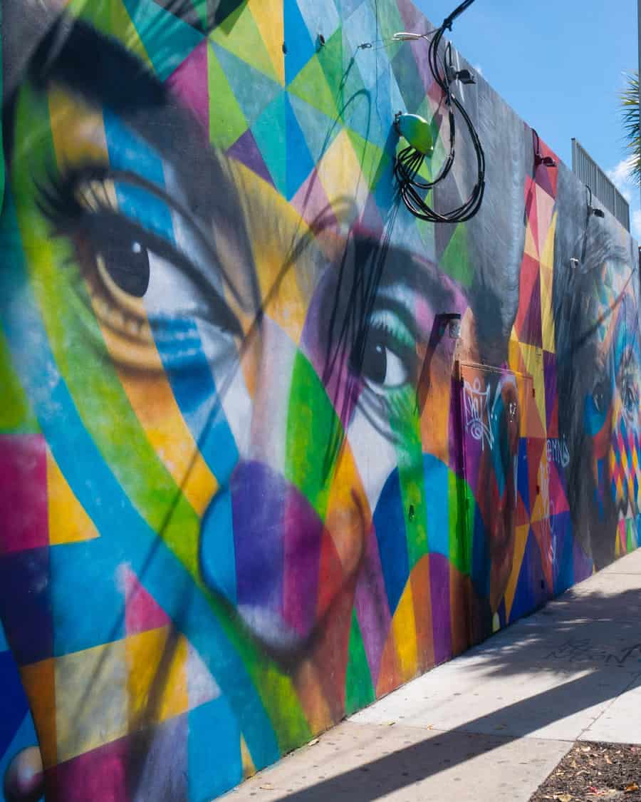 Wynwood Walls in Miami is dedicated to spreading public art to the community.