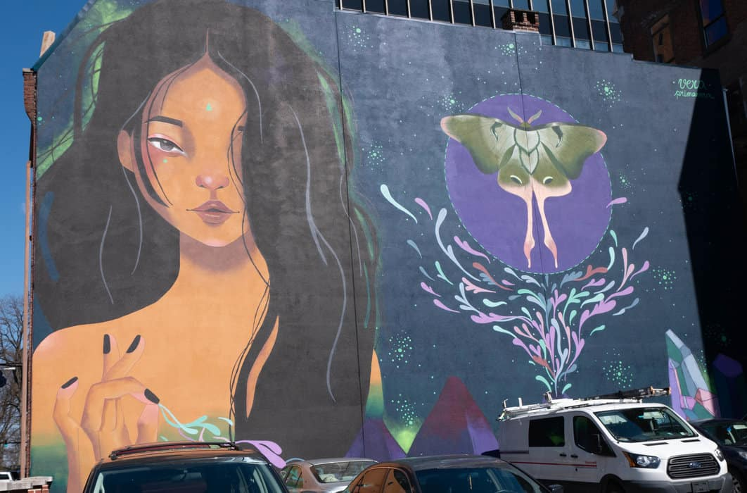 The mural by Vera Primavera created during the 2017 Harrisburg Mural Fest celebrates female empowerment. (Photo by Bryan Speece)